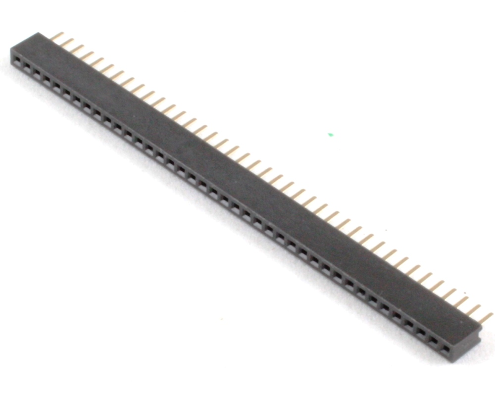 1.27 mm 40 pin Vertical Female Header Through Hole Gold 0