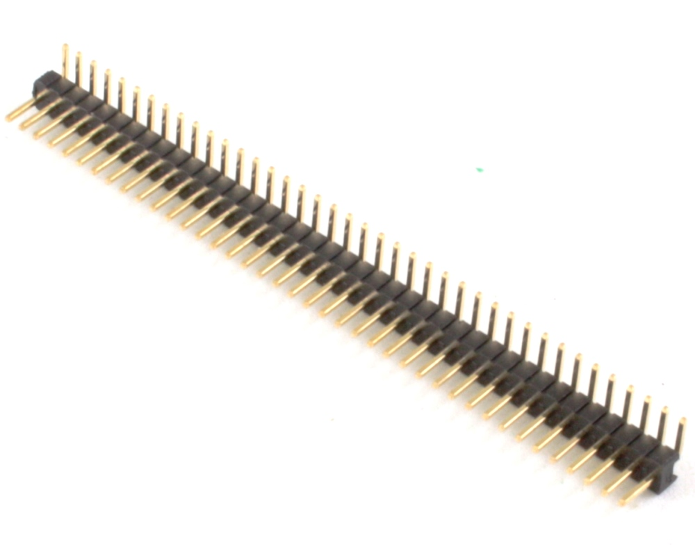 1.27 mm 40 pin Right Angle Male Header Through Hole Gold 0