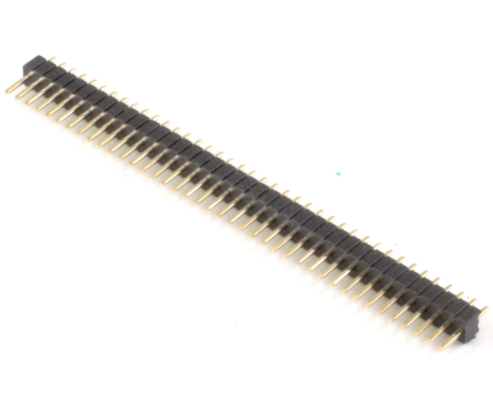 1.27 mm 40 pin Vertical Male Header Through Hole Gold 0