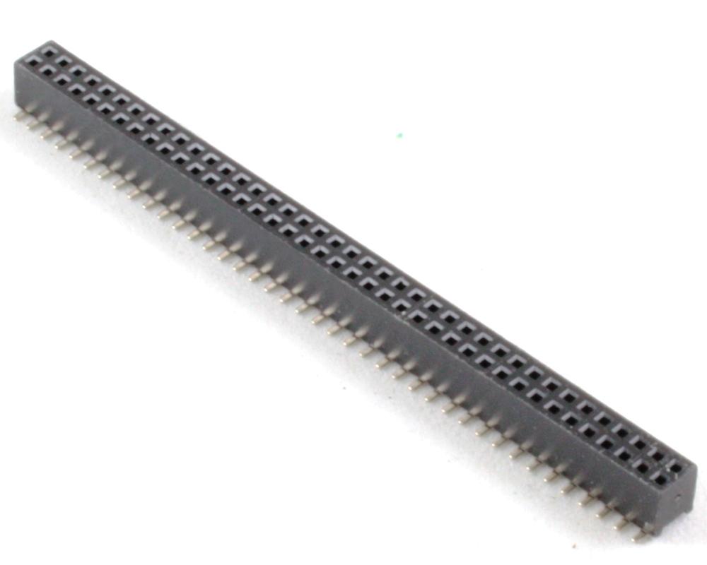 1.27 mm 80 pin Vertical Female Header Surface Mount Gold 0
