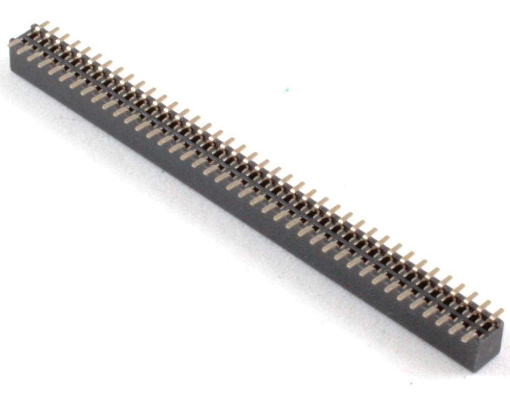 1.27 mm 80 pin Vertical Female Header Surface Mount Gold 1