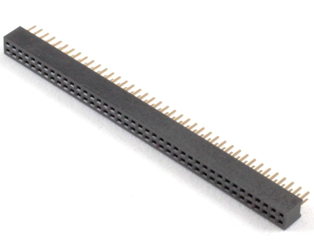 1.27 mm 80 pin Vertical Female Header Through Hole Gold 0