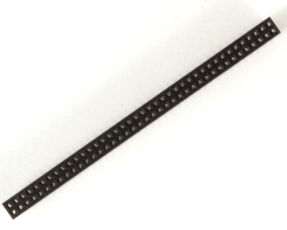 1.27 mm 80 pin Vertical Female Header Through Hole Gold 1