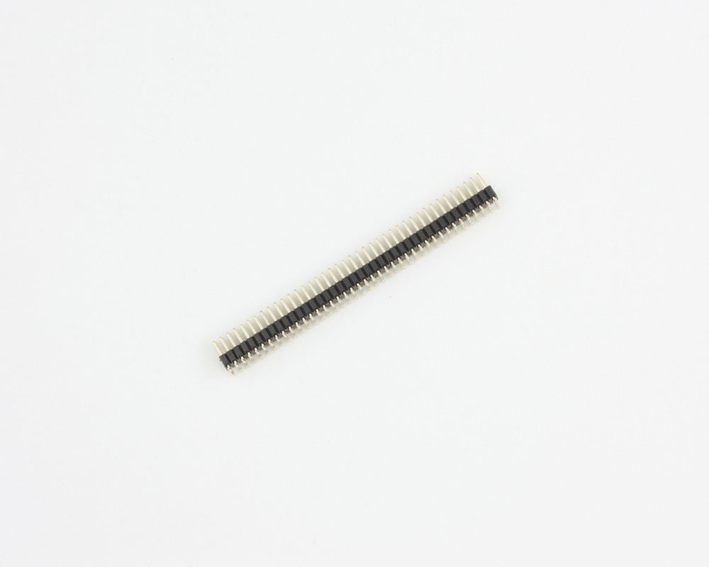 1.27 mm 80 pin Vertical Male Header Surface Mount Gold 2