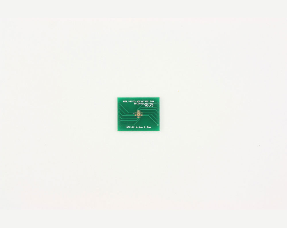 QFN-12 to DIP-16 SMT Adapter (0.8 mm pitch, 4 x 4 mm body, 2.1 x 2.1 mm pad) 2