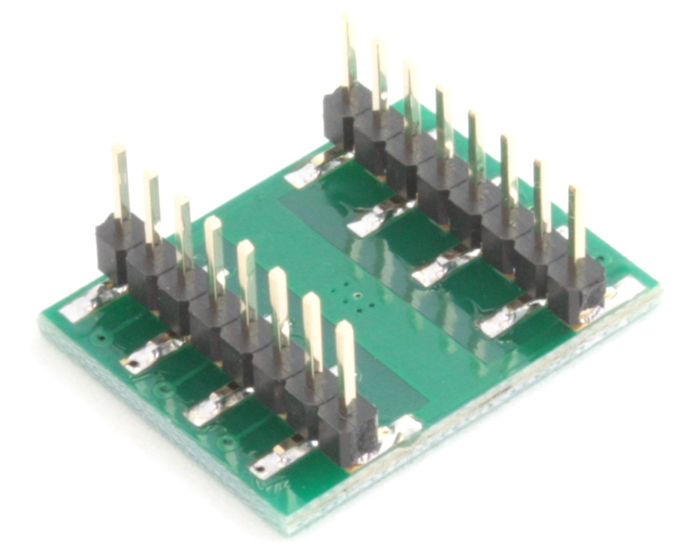 QFN-12 to DIP-16 SMT Adapter (0.5 mm pitch, 4 x 4 mm body, 1.6 x 2.8 mm pad) 1