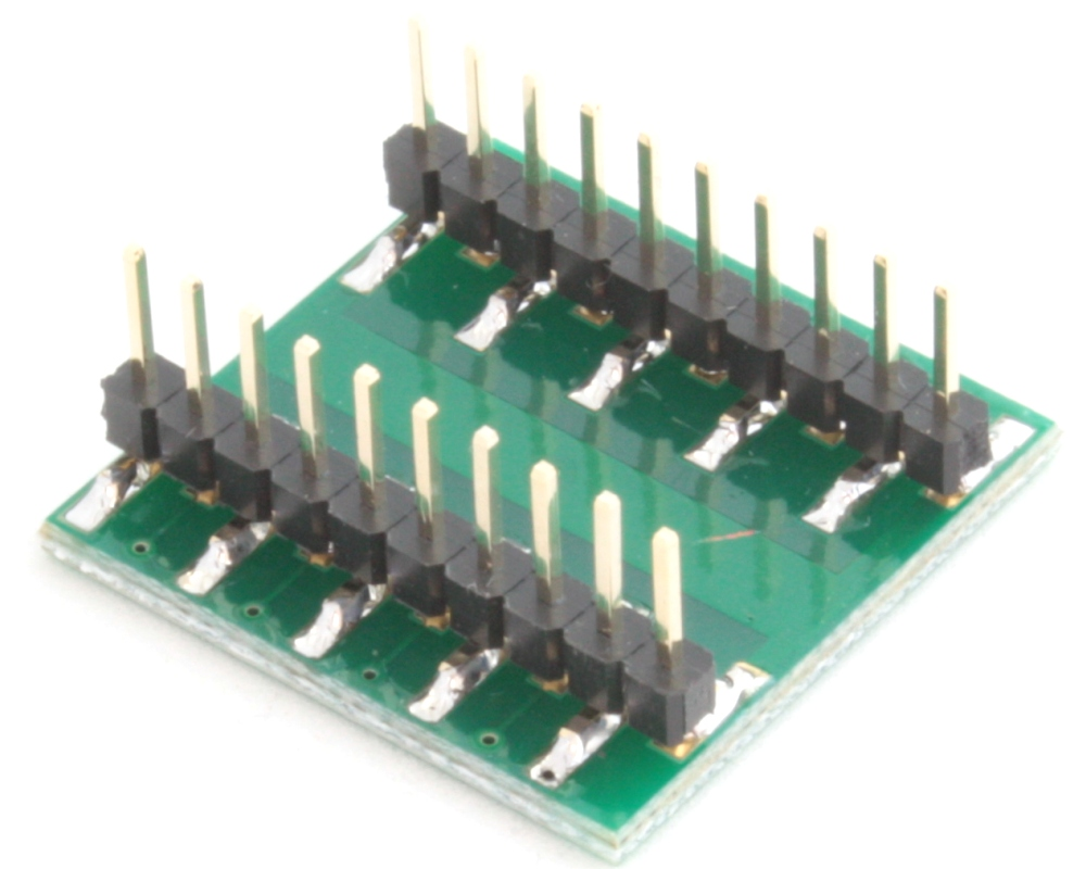 QFN-16 to DIP-20 SMT Adapter (0.5 mm pitch, 3 x 3 mm body, 1.5 x 1.5 mm pad) 1