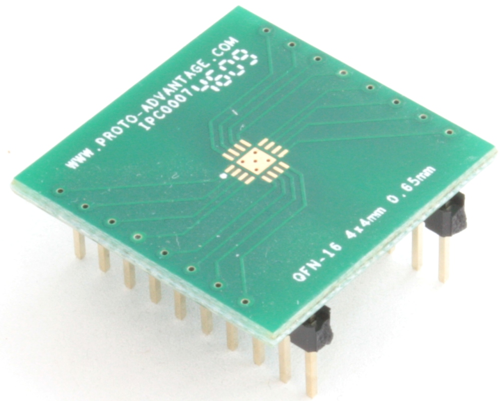 LFCSP-16 to DIP-20 SMT Adapter (0.65 mm pitch, 4 x 4 mm body, 2.1 x 2.1 mm pad) 0