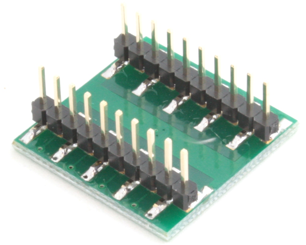 LFCSP-16 to DIP-20 SMT Adapter (0.65 mm pitch, 4 x 4 mm body, 2.1 x 2.1 mm pad) 1