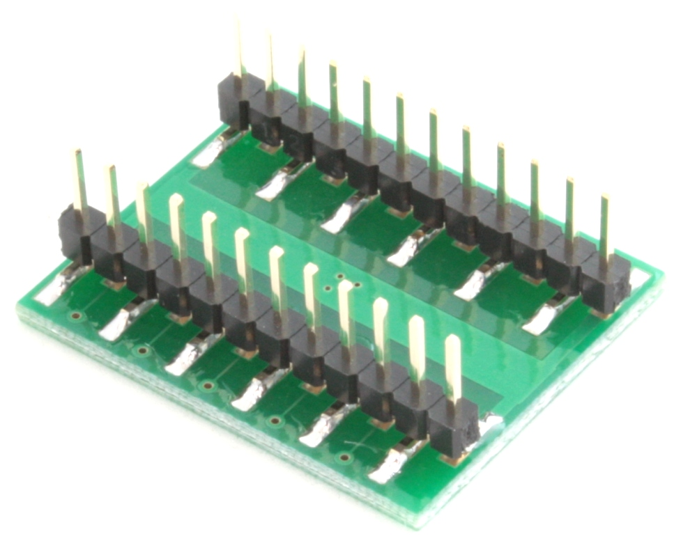 LFCSP-20 to DIP-24 SMT Adapter (0.5 mm pitch, 4 x 4 mm body, 2.1 x 2.1 mm pad) 1