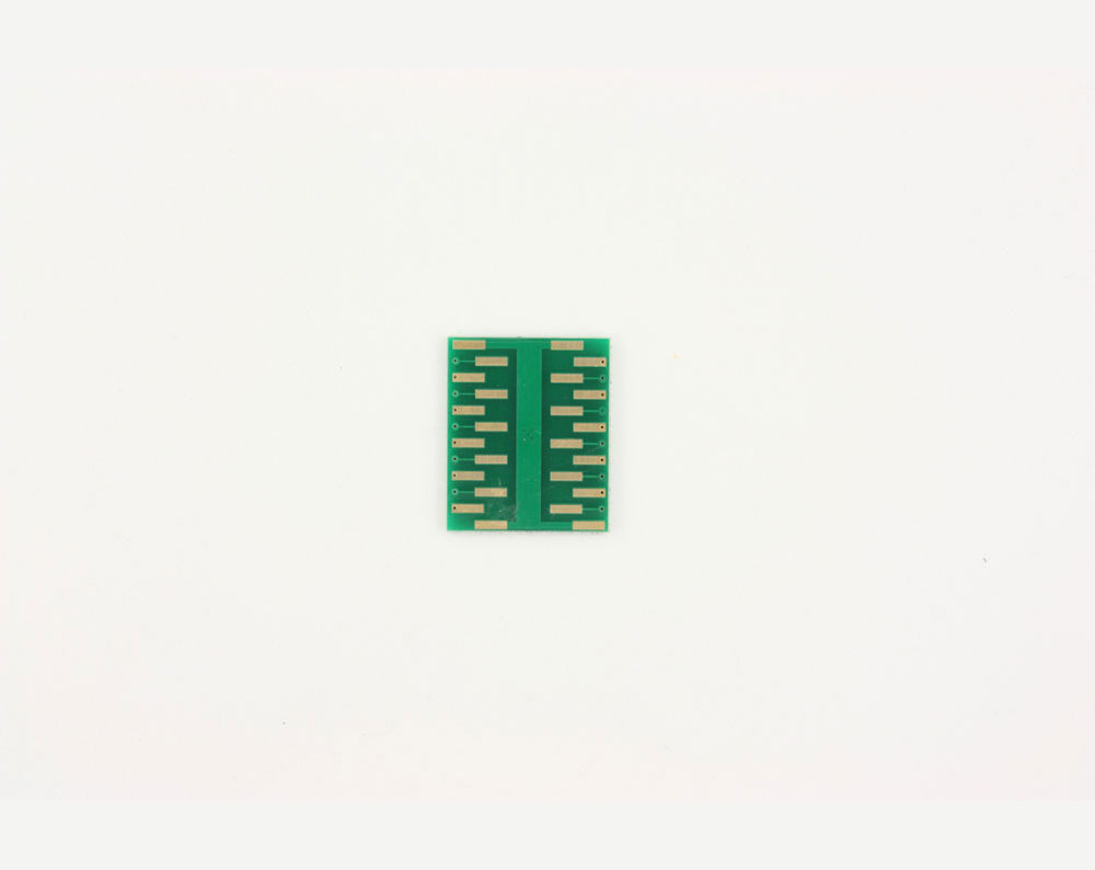 LFCSP-20 to DIP-24 SMT Adapter (0.5 mm pitch, 4 x 4 mm body, 2.1 x 2.1 mm pad) 3