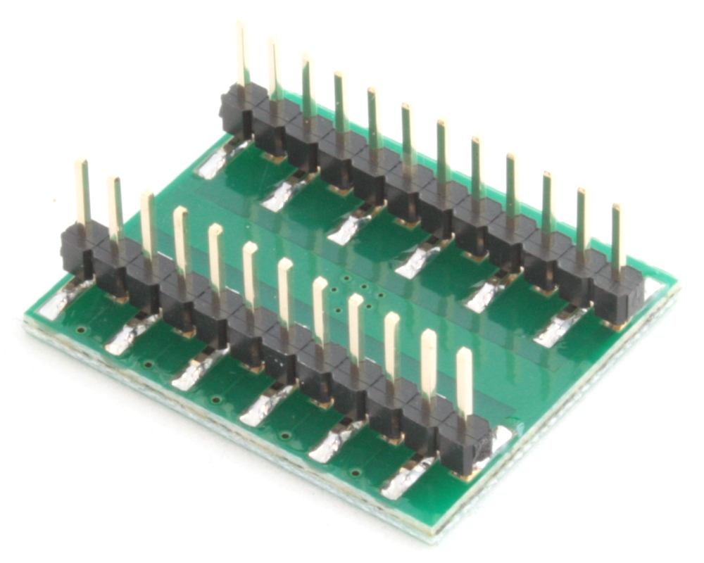 QFN-20 to DIP-24 SMT Adapter (0.8 mm pitch, 6 x 6 mm body, 3.4 x 3.4 mm pad) 1