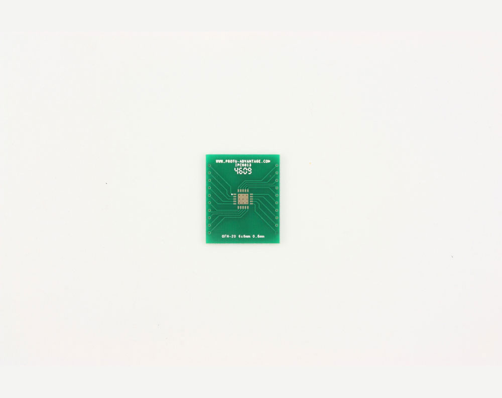 QFN-20 to DIP-24 SMT Adapter (0.8 mm pitch, 6 x 6 mm body, 3.4 x 3.4 mm pad) 2