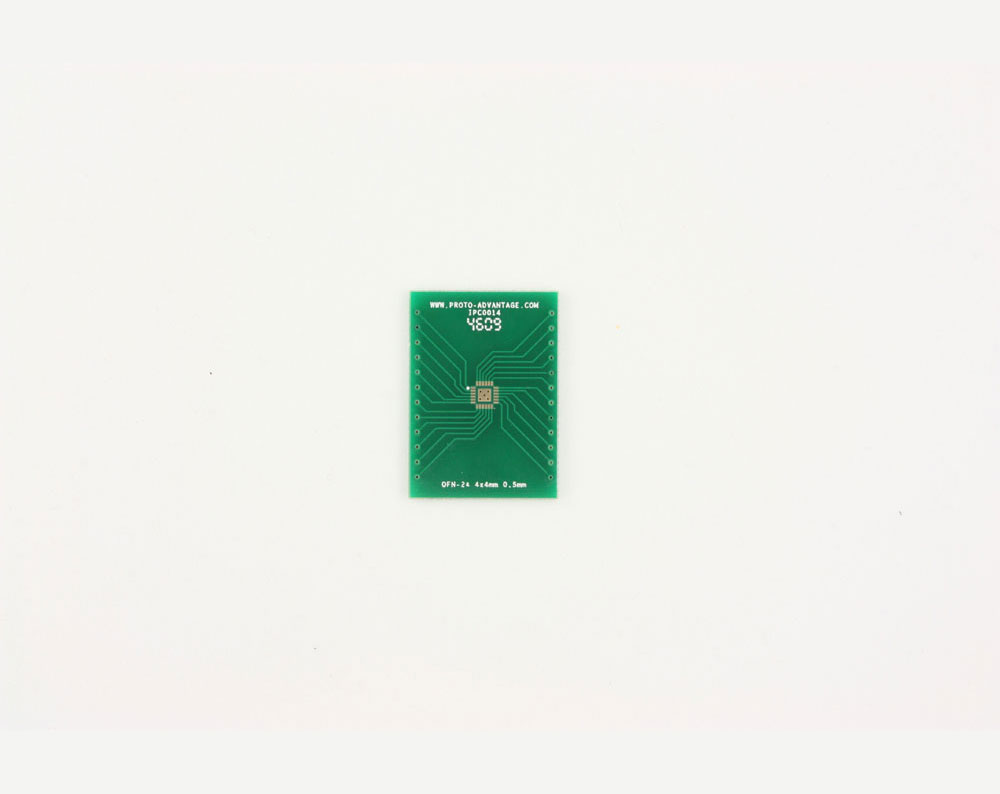 QFN-24 to DIP-28 SMT Adapter (0.5 mm pitch, 4 x 4 mm body, 2.1 x 2.1 mm pad) 2