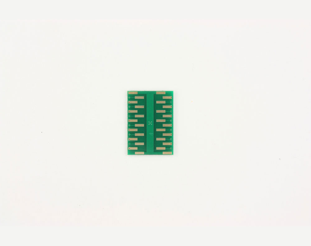 QFN-24 to DIP-28 SMT Adapter (0.5 mm pitch, 4 x 4 mm body, 2.1 x 2.1 mm pad) 3