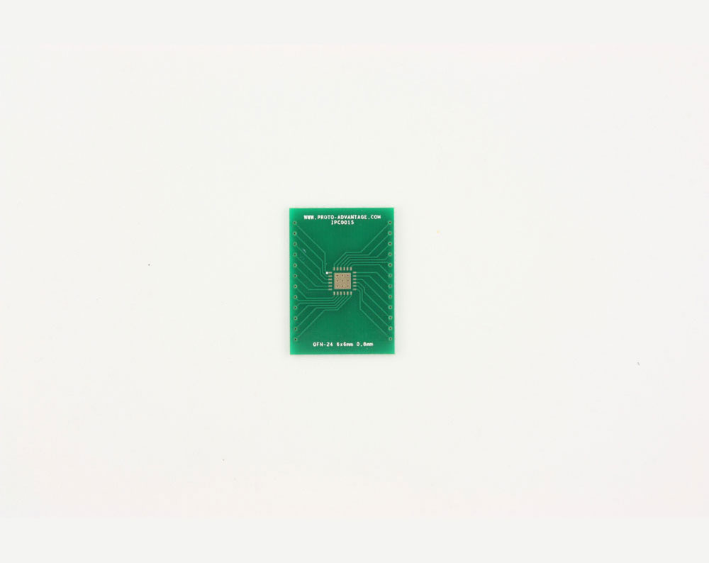 QFN-24 to DIP-28 SMT Adapter (0.8 mm pitch, 6 x 6 mm body, 3.8 x 3.8 mm pad) 2