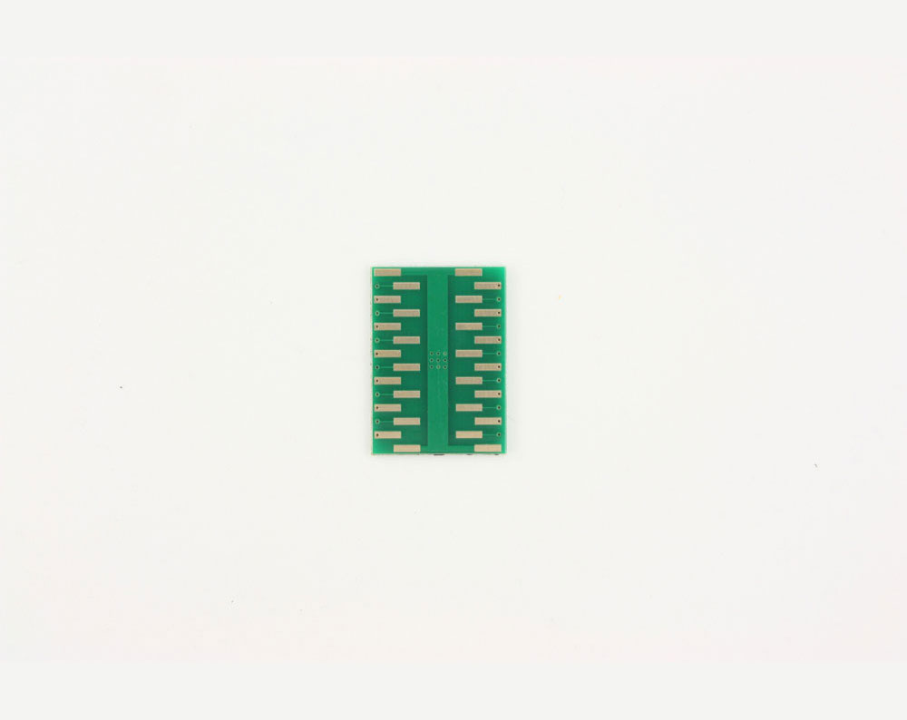QFN-24 to DIP-28 SMT Adapter (0.8 mm pitch, 6 x 6 mm body, 3.8 x 3.8 mm pad) 3