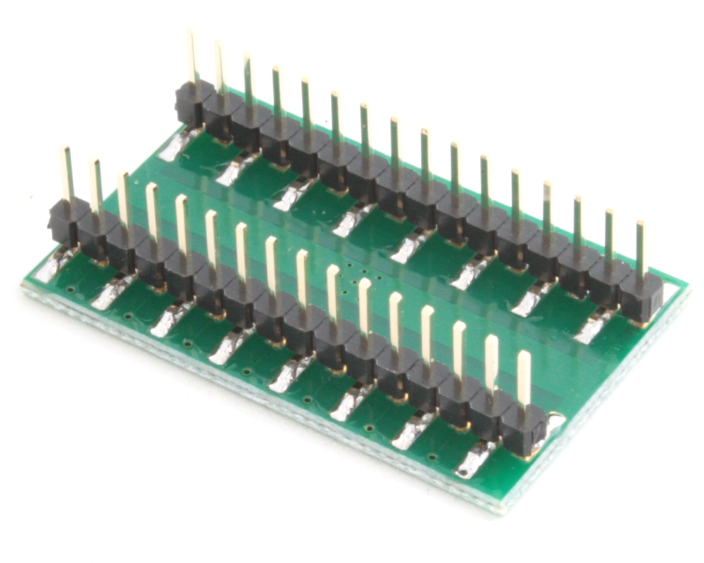 QFN-28 to DIP-32 SMT Adapter (0.65 mm pitch, 6 x 6 mm body, 4.1 x 4.1 mm pad) 1