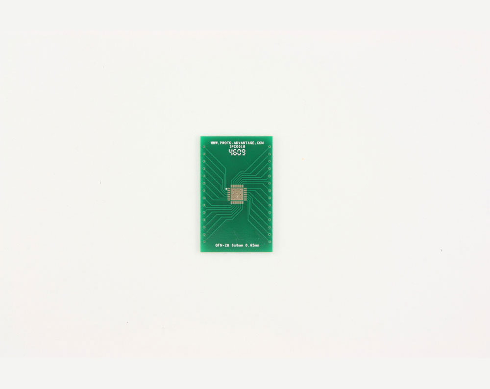QFN-28 to DIP-32 SMT Adapter (0.65 mm pitch, 6 x 6 mm body, 4.1 x 4.1 mm pad) 2