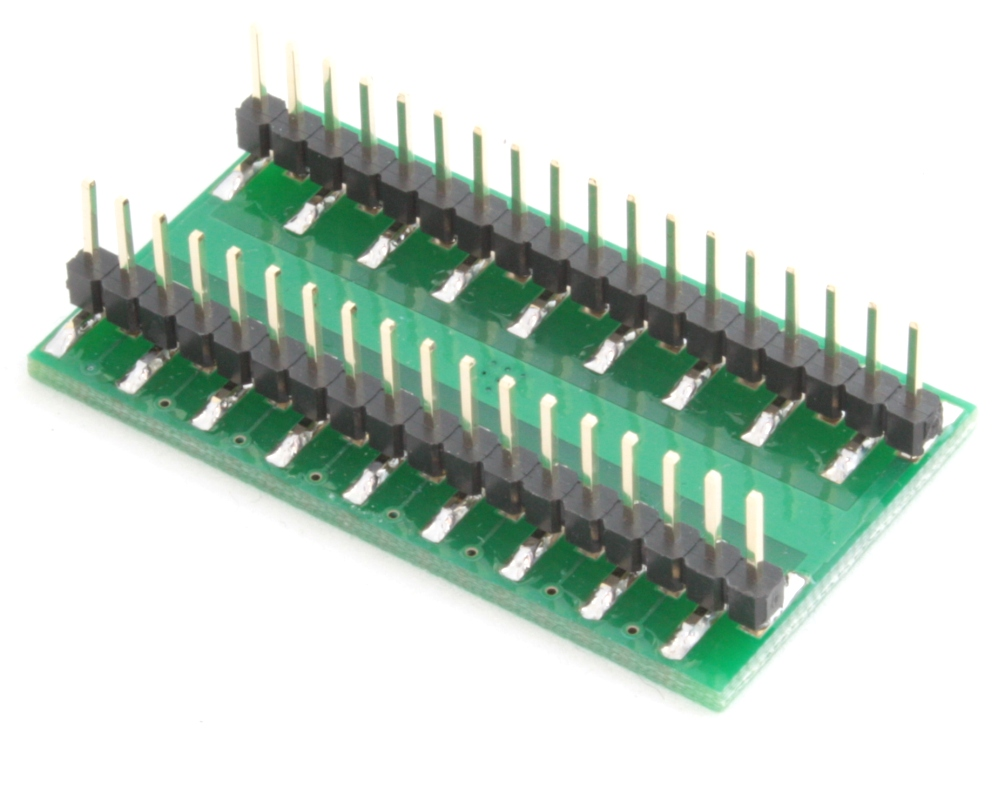 QFN-32 to DIP-36 SMT Adapter (0.5 mm pitch, 5 x 5 mm body, 3.1 x 3.1 mm pad) 1