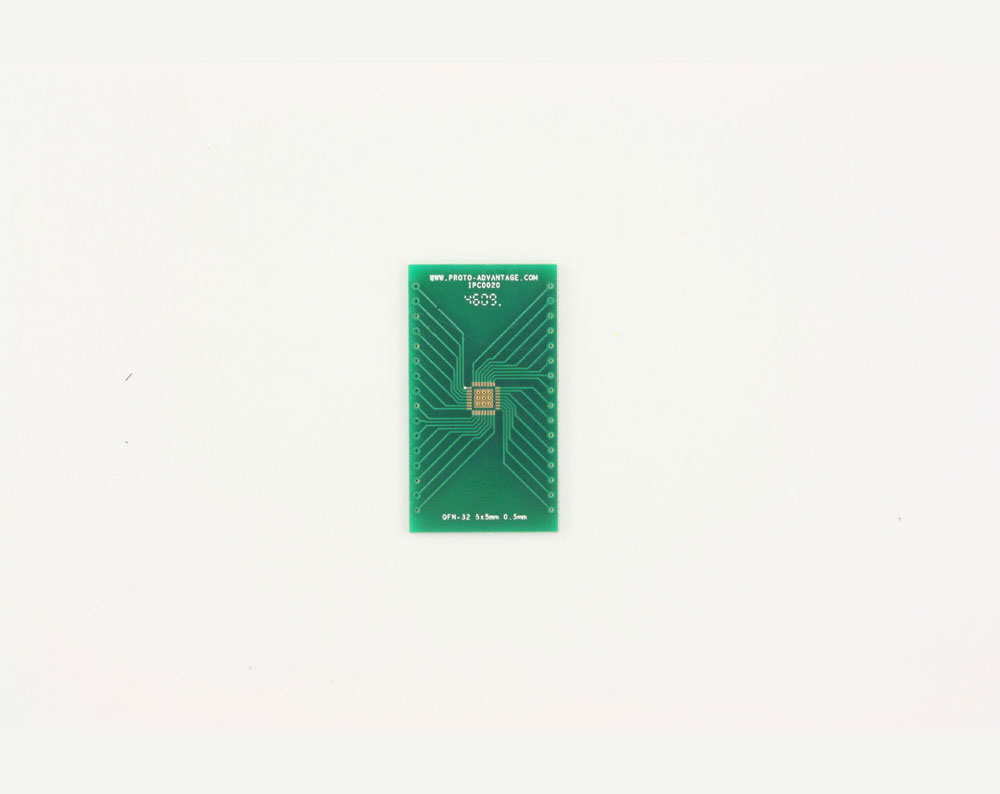 QFN-32 to DIP-36 SMT Adapter (0.5 mm pitch, 5 x 5 mm body, 3.1 x 3.1 mm pad) 2