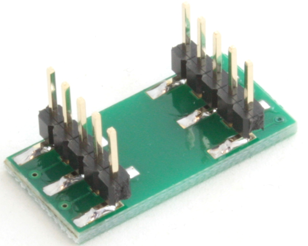 QFN-10 to DIP-10 SMT Adapter (0.4 mm pitch, 1.8 x 1.4 mm body) 1