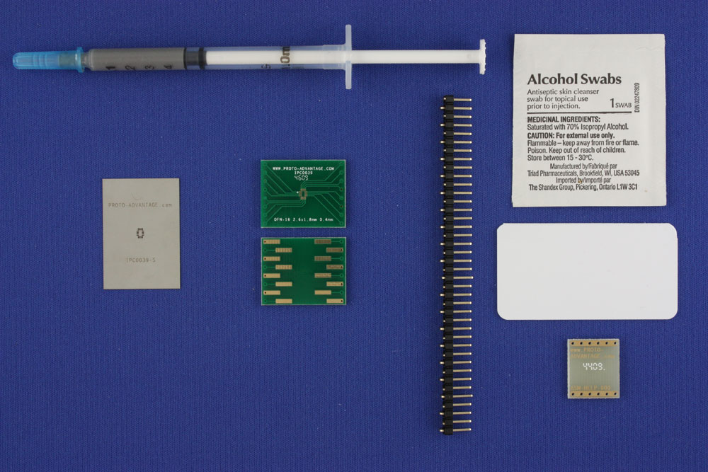 LFCSP-16 (0.4 mm pitch, 2.6 x 1.8 mm body) PCB and Stencil Kit 0