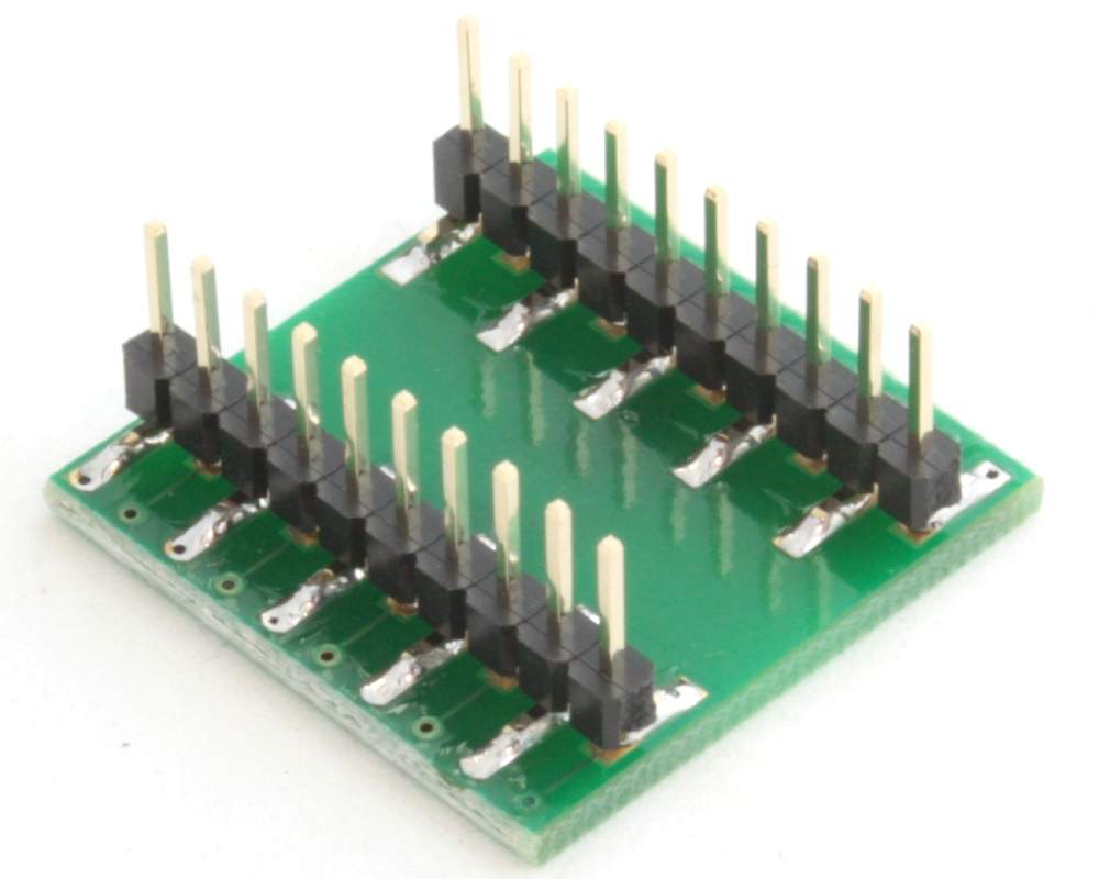QFN-20 to DIP-20 SMT Adapter (0.4 mm pitch, 3.2 x 1.8 mm body) 1