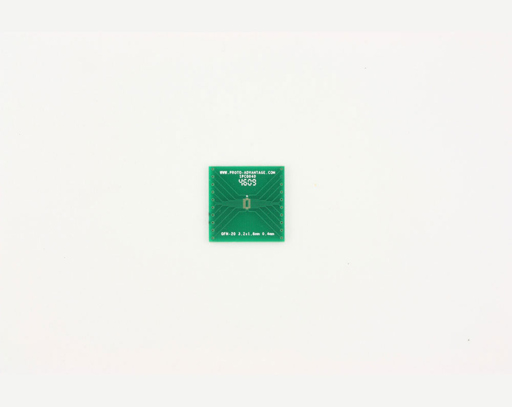 QFN-20 to DIP-20 SMT Adapter (0.4 mm pitch, 3.2 x 1.8 mm body) 2