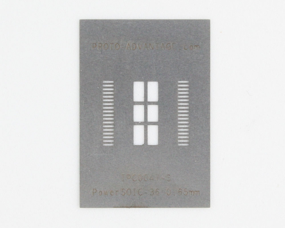 PSOP-36 (0.65 mm pitch, 16 x 11 mm body) Stainless Steel Stencil 0