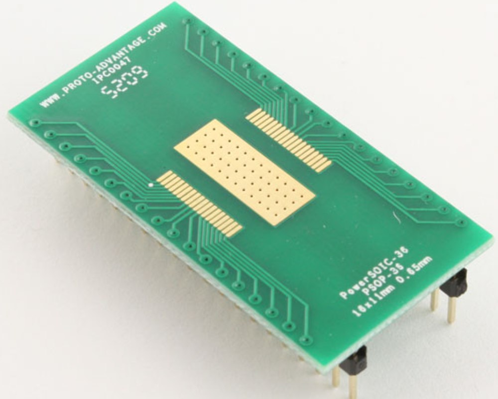 PowerSOIC-36 to DIP-40 SMT Adapter (0.65 mm pitch, 16 x 11 mm) 0
