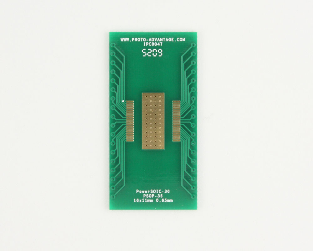 PowerSOIC-36 to DIP-40 SMT Adapter (0.65 mm pitch, 16 x 11 mm) 2