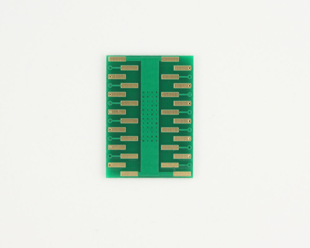 HSOP-24 to DIP-28 SMT Adapter (1.0 mm pitch, 16 x 11 mm body) 1
