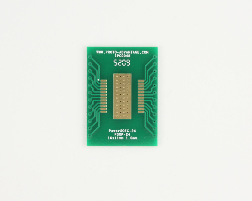 PowerSOIC-24 to DIP-28 SMT Adapter (1.0 mm pitch, 16 x 11 mm) 2