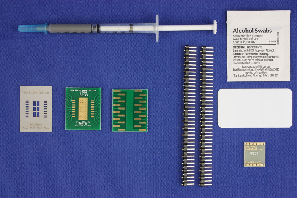 HSOP-20 (1.27 mm pitch, 16 x 11 mm body) PCB and Stencil Kit 0