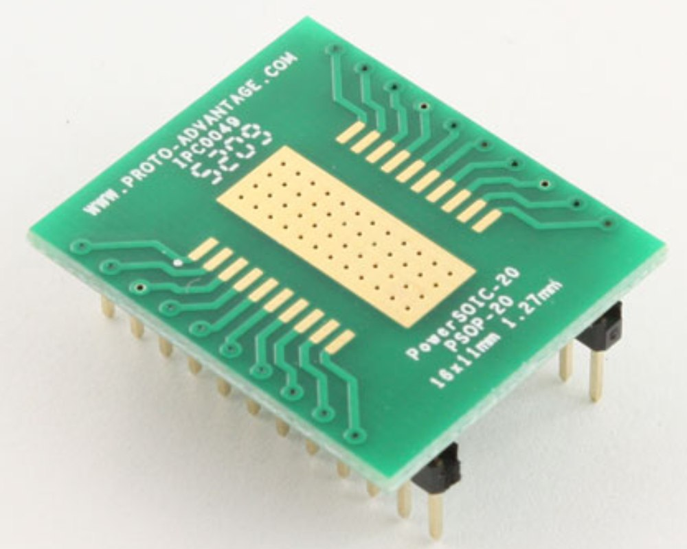PowerSOIC-20 to DIP-24 SMT Adapter (1.27 mm pitch, 16 x 11 mm) 0