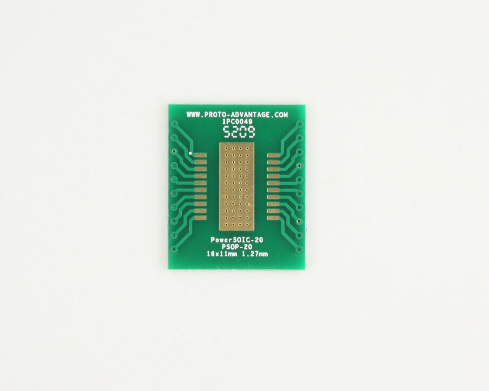PowerSOIC-20 to DIP-24 SMT Adapter (1.27 mm pitch, 16 x 11 mm) 2