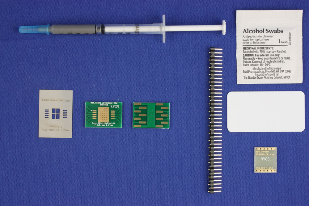 HSOP-10 (1.27 mm pitch, 7.5 x 9.4 mm body) PCB and Stencil Kit 0