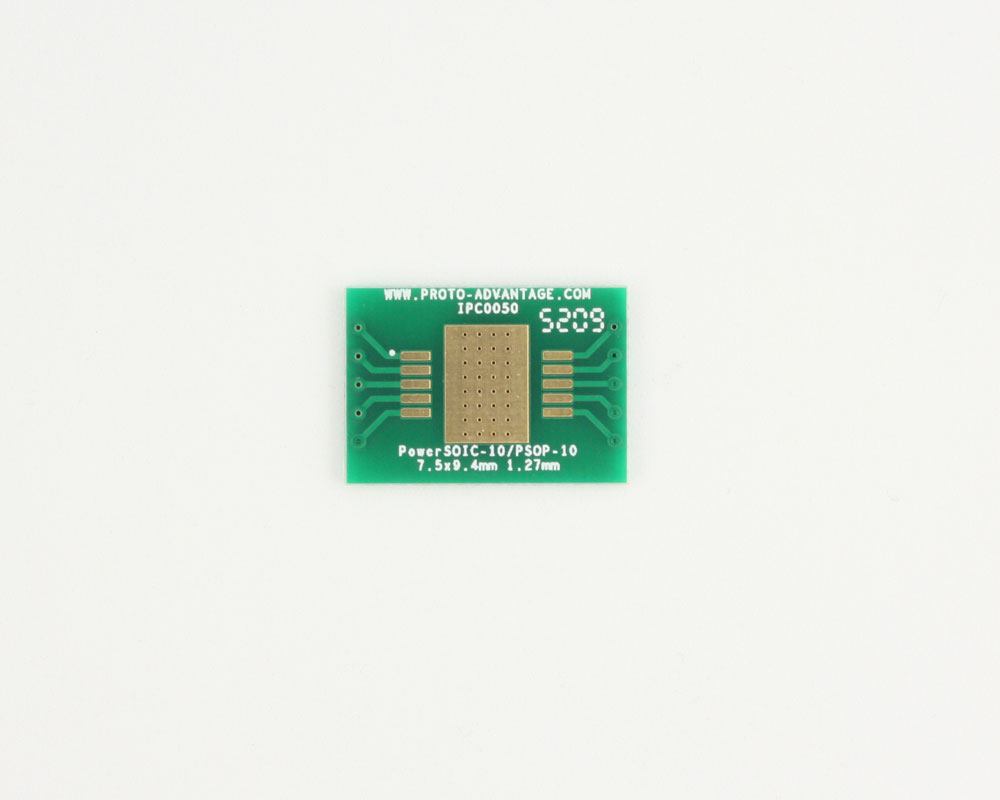 PowerSOIC-10 to DIP-14 SMT Adapter (1.27 mm pitch, 7.5 x 9.4 mm) 2
