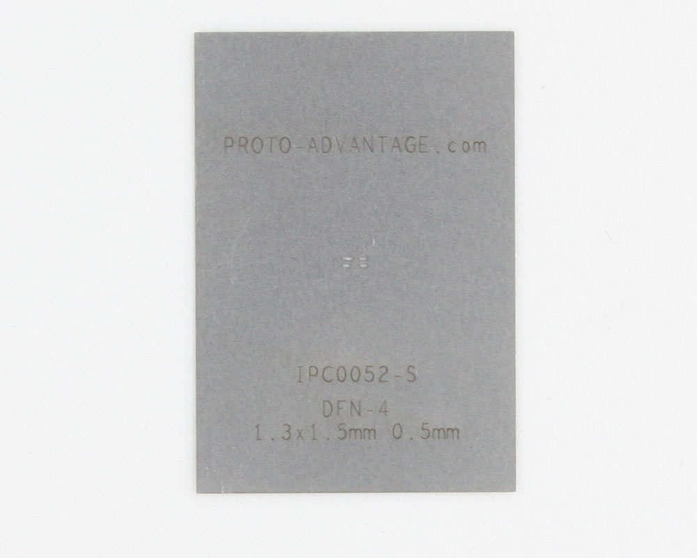 DFN-4 (0.5 mm pitch, 1.3 x 1.5 mm body) Stainless Steel Stencil 0
