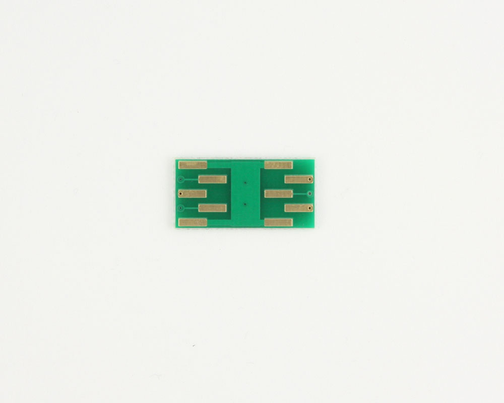 DFN-5 to DIP-10 SMT Adapter (0.65 mm pitch, 2.0 x 2.1 mm body) 1