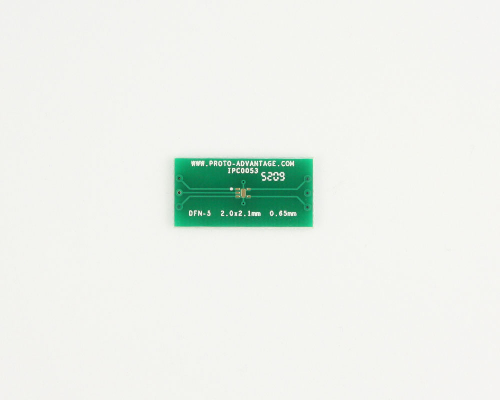 DFN-5 to DIP-10 SMT Adapter (0.65 mm pitch, 2.0 x 2.1 mm body) 2