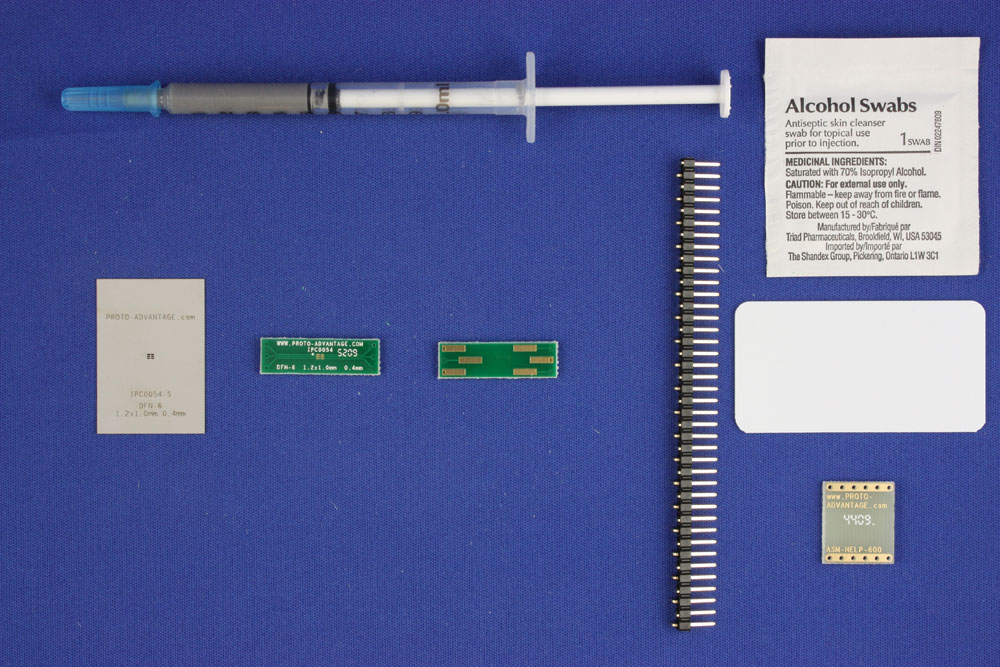 DFN-6 (0.4 mm pitch, 1.2 x 1.0 mm body) PCB and Stencil Kit 0