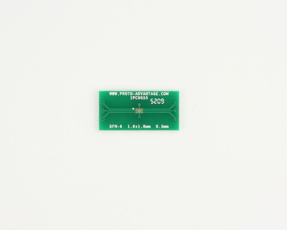 DFN-6 to DIP-10 SMT Adapter (0.5 mm pitch, 1.6 x 1.6 mm body) 2
