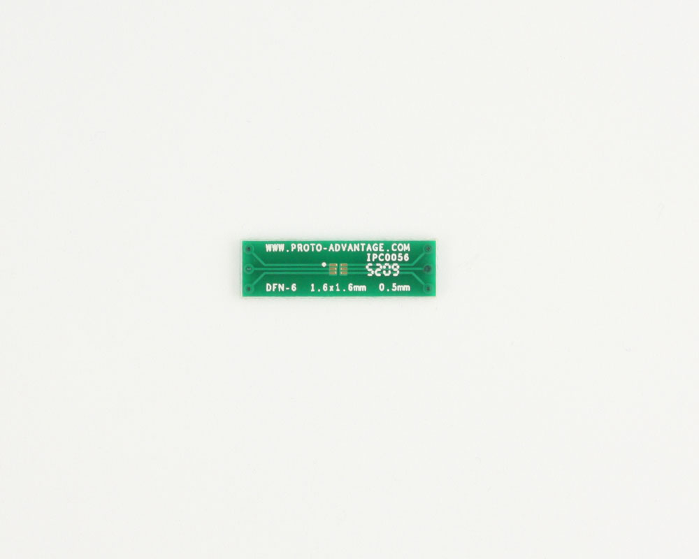 DFN-6 to DIP-6 SMT Adapter (0.5 mm pitch, 1.6 x 1.6 mm body) 2