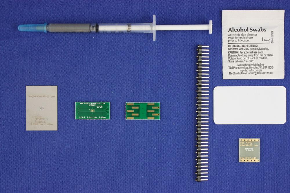 DFN-6 (0.65 mm pitch, 2.0 x 2.1 mm body) PCB and Stencil Kit 0