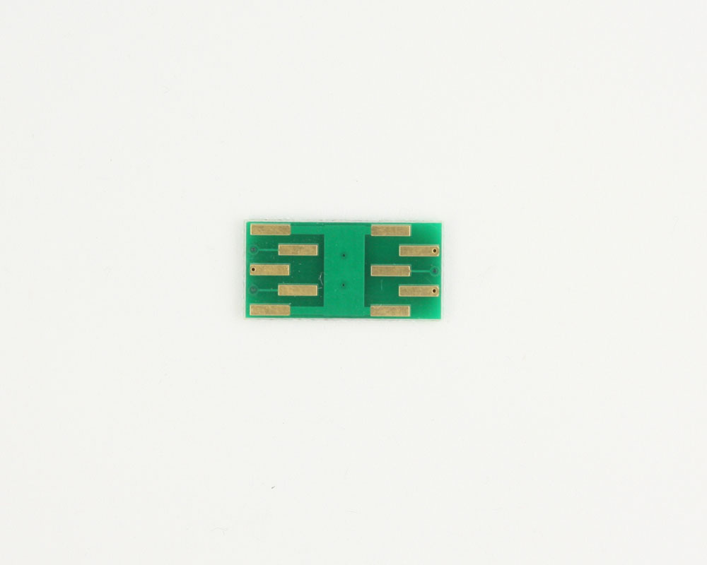 DFN-6 to DIP-10 SMT Adapter (0.65 mm pitch, 2.0 x 2.1 mm body) 1