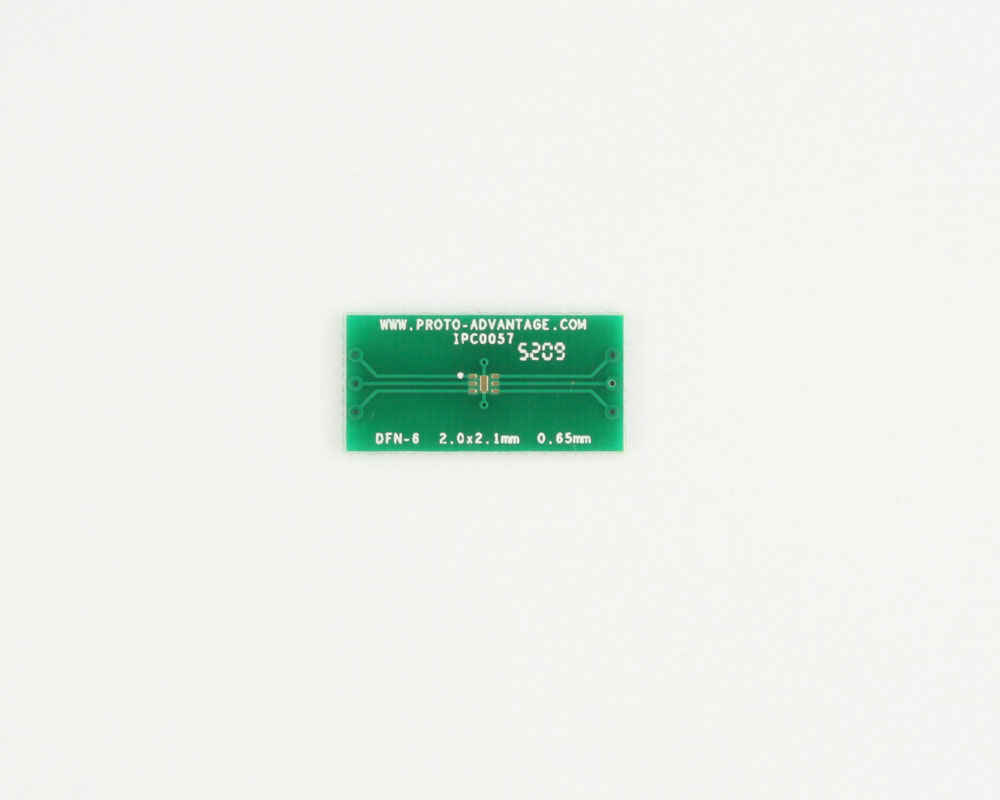 DFN-6 to DIP-10 SMT Adapter (0.65 mm pitch, 2.0 x 2.1 mm body) 2