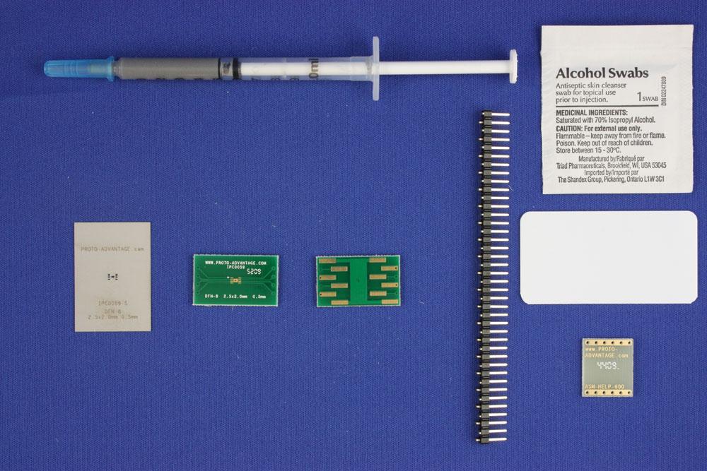 DFN-8 (0.5 mm pitch, 2.5 x 2.0 mm body) PCB and Stencil Kit 0