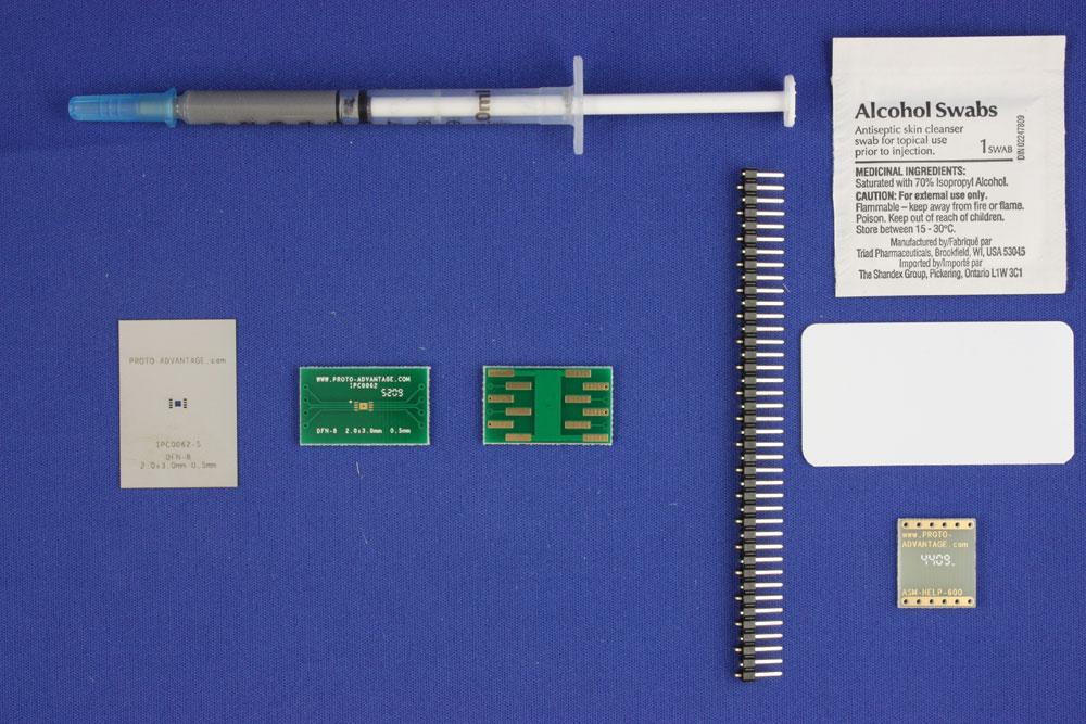 DFN-8 (0.5 mm pitch, 2.0 x 3.0 mm body) PCB and Stencil Kit 0